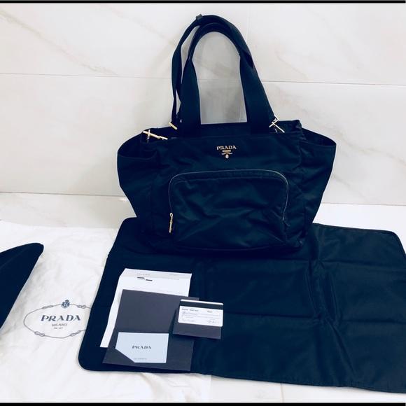 16134219ac49 Prada Women s Vela nylon baby bag. M 5bcab0bd9519964b7a32d026